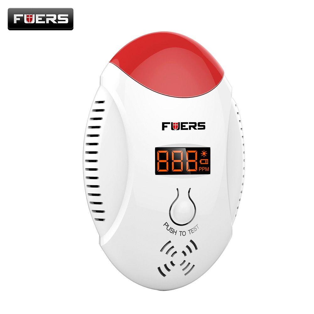 Fuers co детектор светодиодный цифровой Дисплей Угарный газ СО детектор голосовой сигнал Strobe Сенсор сигнализации дома Системы co детектор