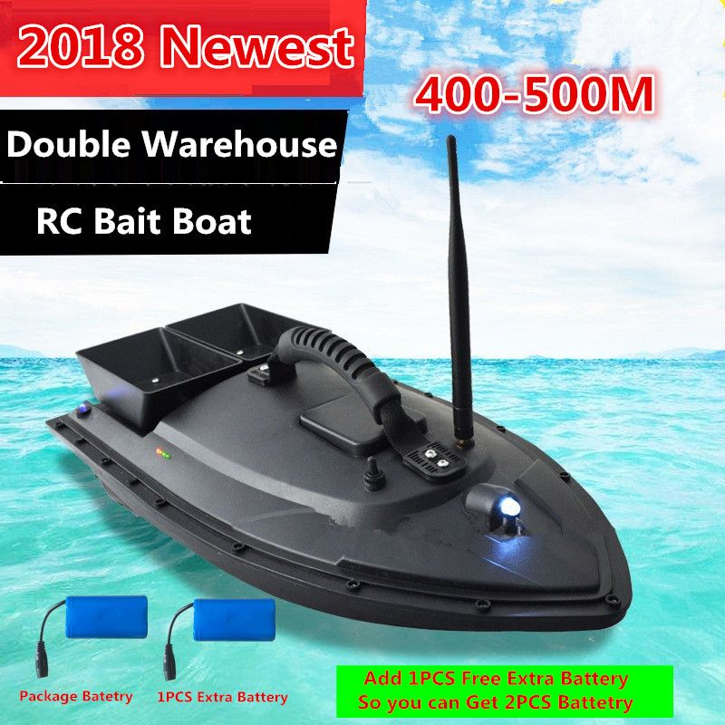 Free extra Battery Remote Contorl Sea RC Fishing Bait Boat 2011-5 500M Double Bait Well Motor1.5KG Load RC intelligent Fish Boat