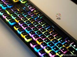 Kunci Mekanis 104 Tombol Ganda Shot PBT Backlighting LED Tembus Mekanik OEM Keyboard Keycap 104 Backlit PBT