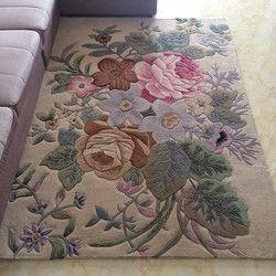 Tradisional Cina Floral Karpet Untuk Ruang Tamu 100% Wol Karpet untuk Kamar Tidur Sofa Meja Kopi Lantai Tikar Villa Studi Karpet karpet
