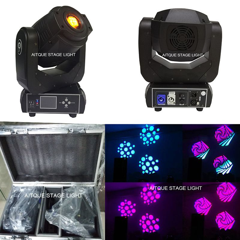 (2lights+Flycase)dj light equipment 90 watt moving head lyre spot led 90w led moving head spot dmx512