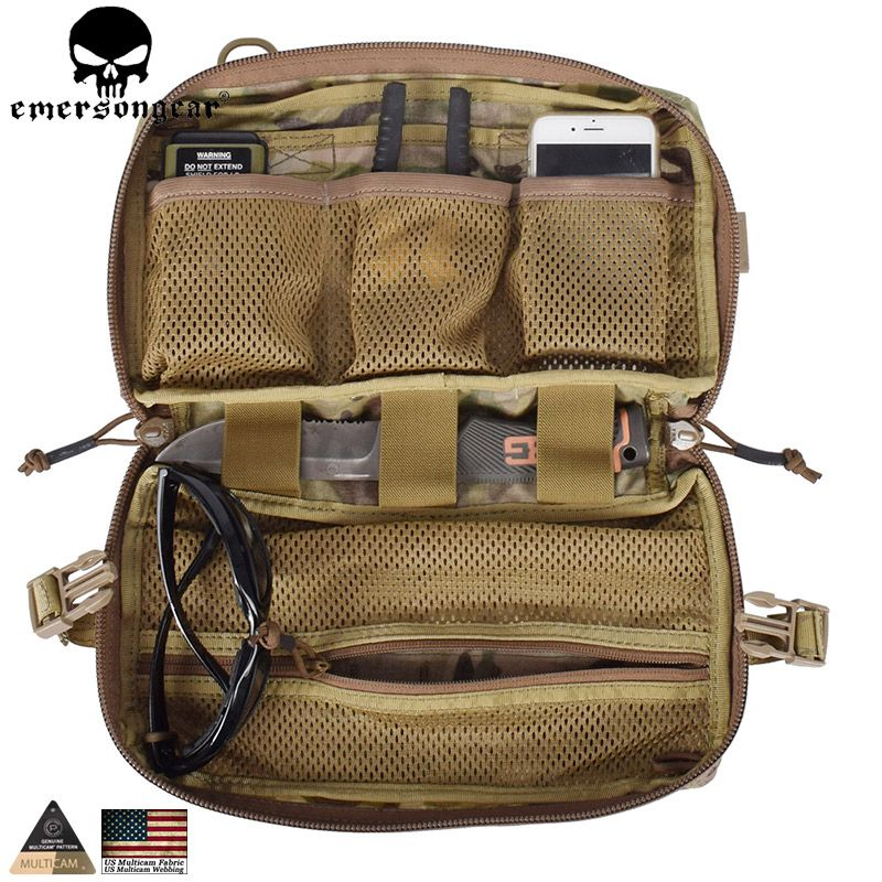 EMERSONGEAR Tactical Pouch Multifunktions Molle Tasche Military Jagd Combat Gear Drop Molle Pouch Multicam EM8347