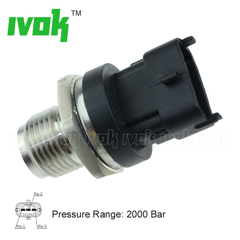 Free shipping 2000Bar M18X1.5 Fuel Rail High Pressure Sensor 0281006165 504382791 504382791 5037751330 For IVECO NEW
