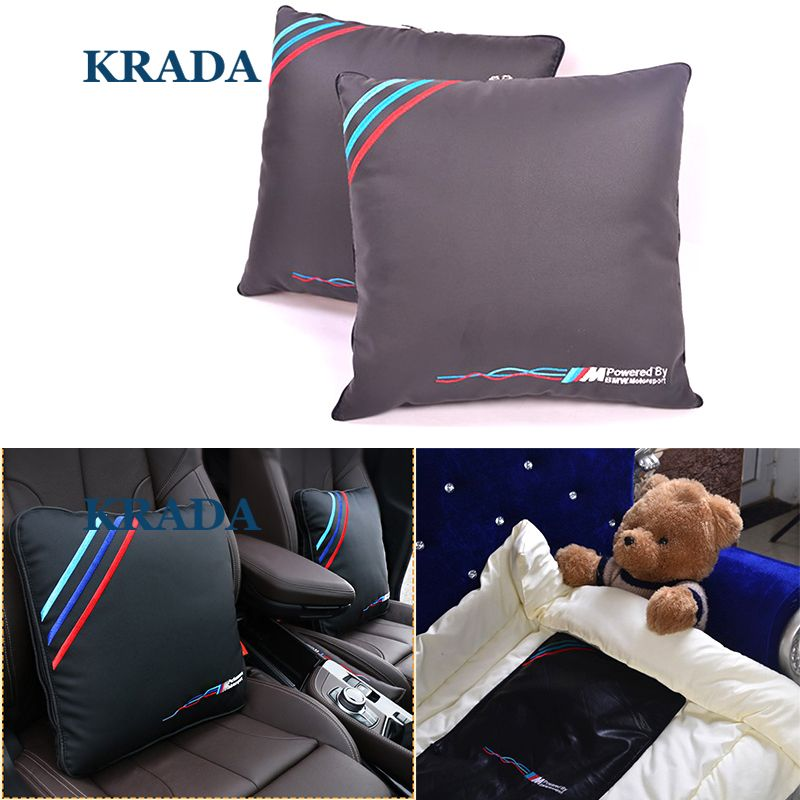 Car styling for BMW M Emblem E46 F10 E90 F30 E60 F20 E39 X3 E36 X5 X1 Car Pillow Lumbar Support for Office Chair Car Quilt