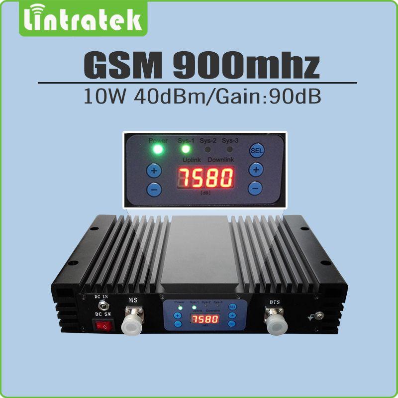 10 Watt Große Power 40dBm Gain 90dB 2G GSM 900 mhz Signal Repeater GSM 900 Handy Signal Booster Verstärker mit lcd-display und AGC/MGC