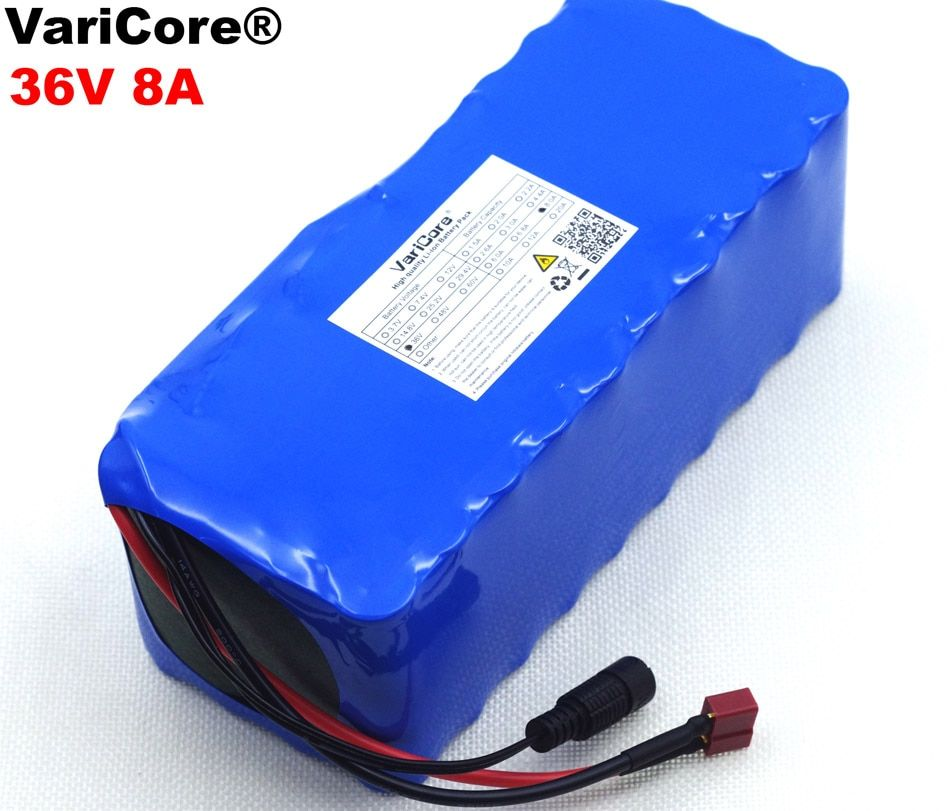 VariCore 36 V 8Ah 10S4P 18650 Rechargeable Battery, Modified Bikes, 36 V Electric Vehicle with PCB Protection