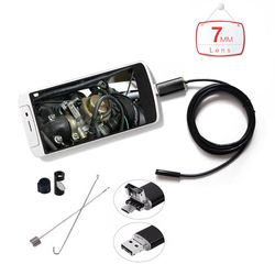 Мини эндоскопа Камера 1 м/2 м/3.5 м/5 м/10 м ПК Android 7 мм объектив Водонепроницаемый инспекции бороскоп Micro USB OTG автомобиля Камера эндоскопа