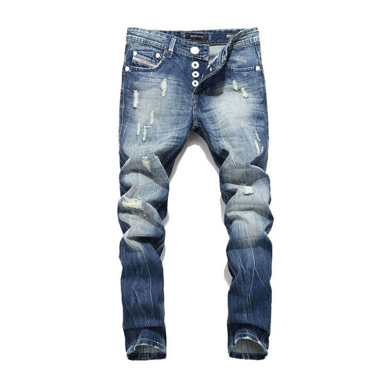 2017 New Arrival Fashion Balplein Brand Men Jeans Washed Printed Jeans For Men Casual Pants Italian Designer Jeans Men!B982
