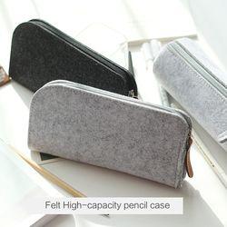 JIANWU Minimalist felt pencil bag fabric pencil case pencil box School Supplies Office Supplies