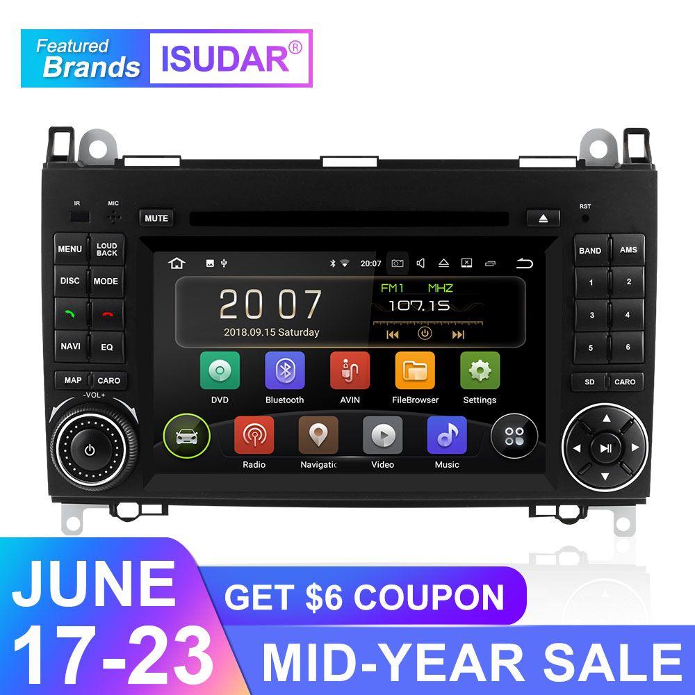 Isudar Auto Multimedia-Player GPS Android 9 2 Din DVD Automotivo Für Mercedes/Benz/Sprinter/B200/B -klasse/W245/B170/W169 Radio DSP