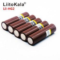 2019 умное устройство для зарядки никель-металлогидридных аккумуляторов от компании LiitoKala: HG2 18650 3000 мАч заряжаемая электронная сигарета бата...