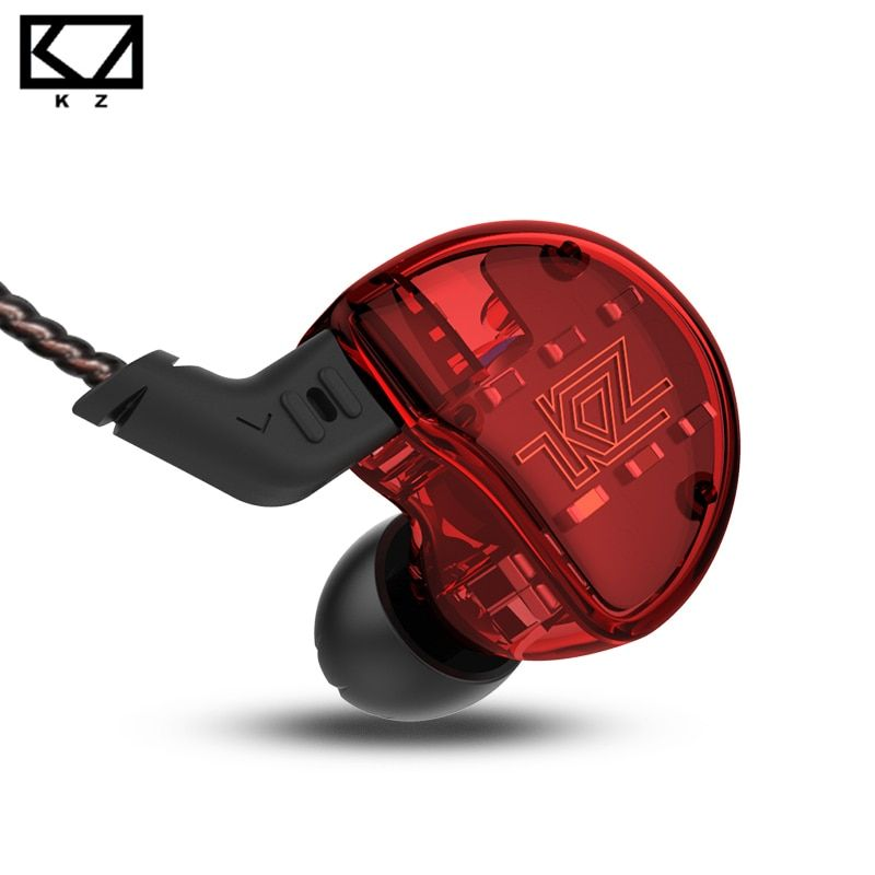 KZ ZS10 Headphones 10 Driver In Ear Earphone 4BA+1Dynamic Armature Earbuds HiFi Bass Headset Noise Cancelling In Ear Monitors