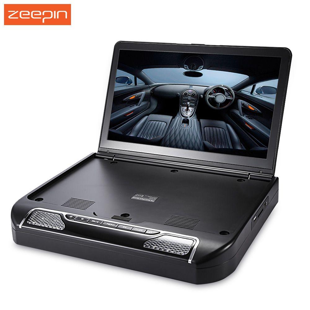 Zeepin 13,3 zoll 1080 p 120 Grad Drehbaren Bildschirm OS-1336D Auto Multimedia-Player FM Fernbedienung Dach Montieren Auto DVD player