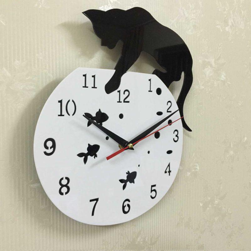 sale quartz watch wall clock acrylic mirror reloj pared horloge needle diy clocks living room modern watches 3d stickers