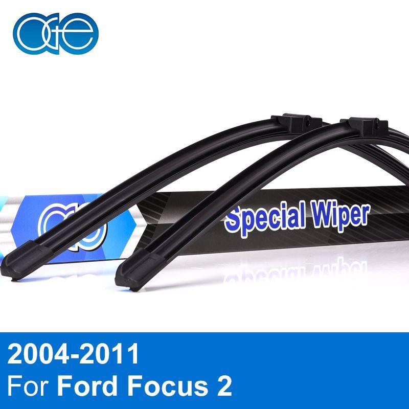 Oge Wiper Blades For Ford Focus 2 2004 2005 2006 2007 2008 2009 2010 2011 Windscreen <font><b>Windshield</b></font> Rubber Car Accessories