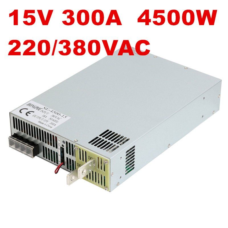 1PCS 4500W 300A 15V power supply 15V 300A AC-DC High-Power PSU 0-5V analog signal control SE-4500-15 DC 15V
