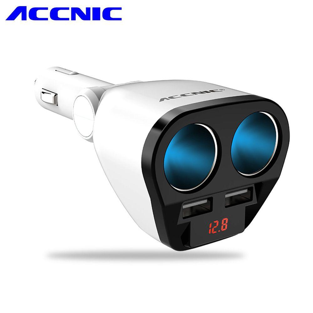 Accnic DC 12 В/24 В 120 Вт Универсальный 2 способа автомобиля Авто-прикуриватели Dual USB 5 В 3.4a интеллектуальные выход с автомобиля напряжение диагност...