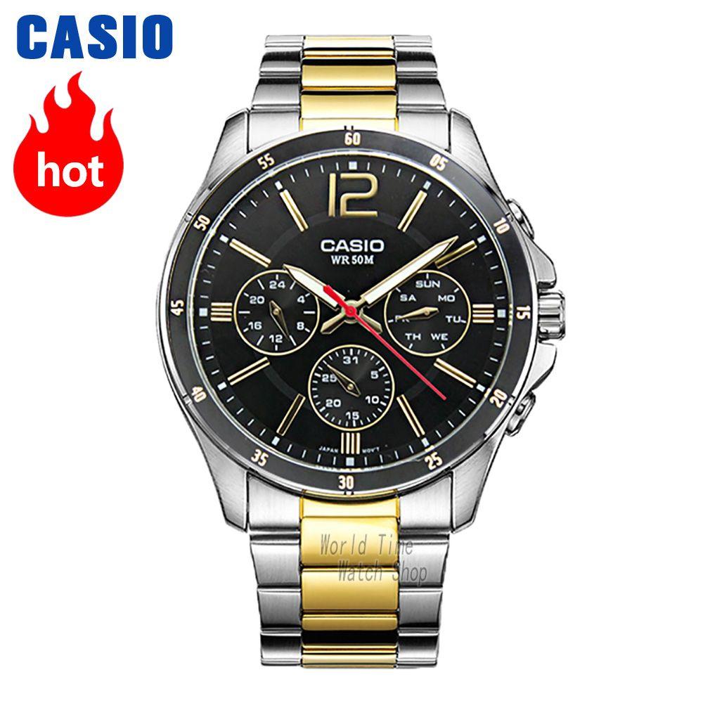 Casio watch Analogue Men's quartz sports watch Fashion business waterproof watch MTP-1374