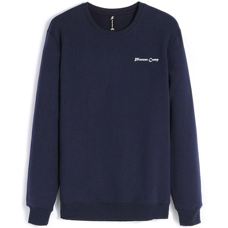 Pioneer Camp 2017 fashion fleece thicken hoodies men warm 100%cotton brand clothing casual male hoody shark men sweatshirt XXXL
