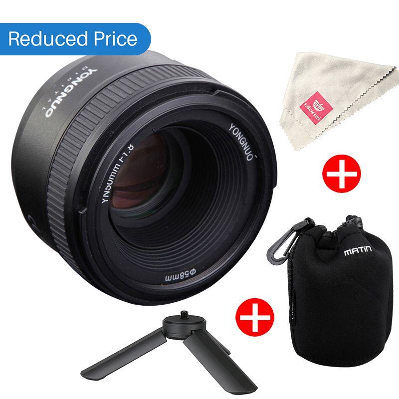 Ulanzi YONGNUO YN50MM F1.8 Lens Large Aperture Auto Focus Lens for Nikon D800 D300 D700 D3200 D3300 D5100 D5200 D5300 DSLR Camer