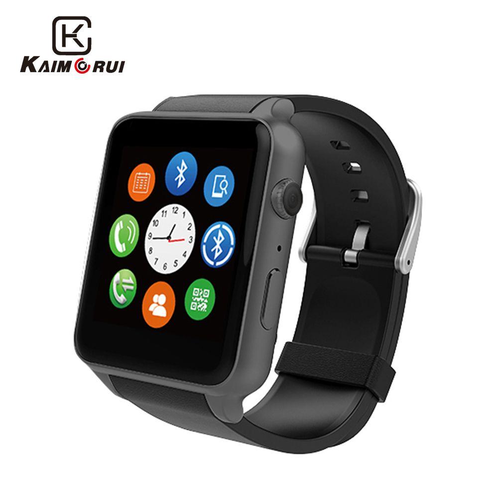 Kaimorui GT88 montre intelligente Android podomètre traqueur de fréquence cardiaque éclairage Sport Smartwatch pour IOS Android téléphone caméra montre