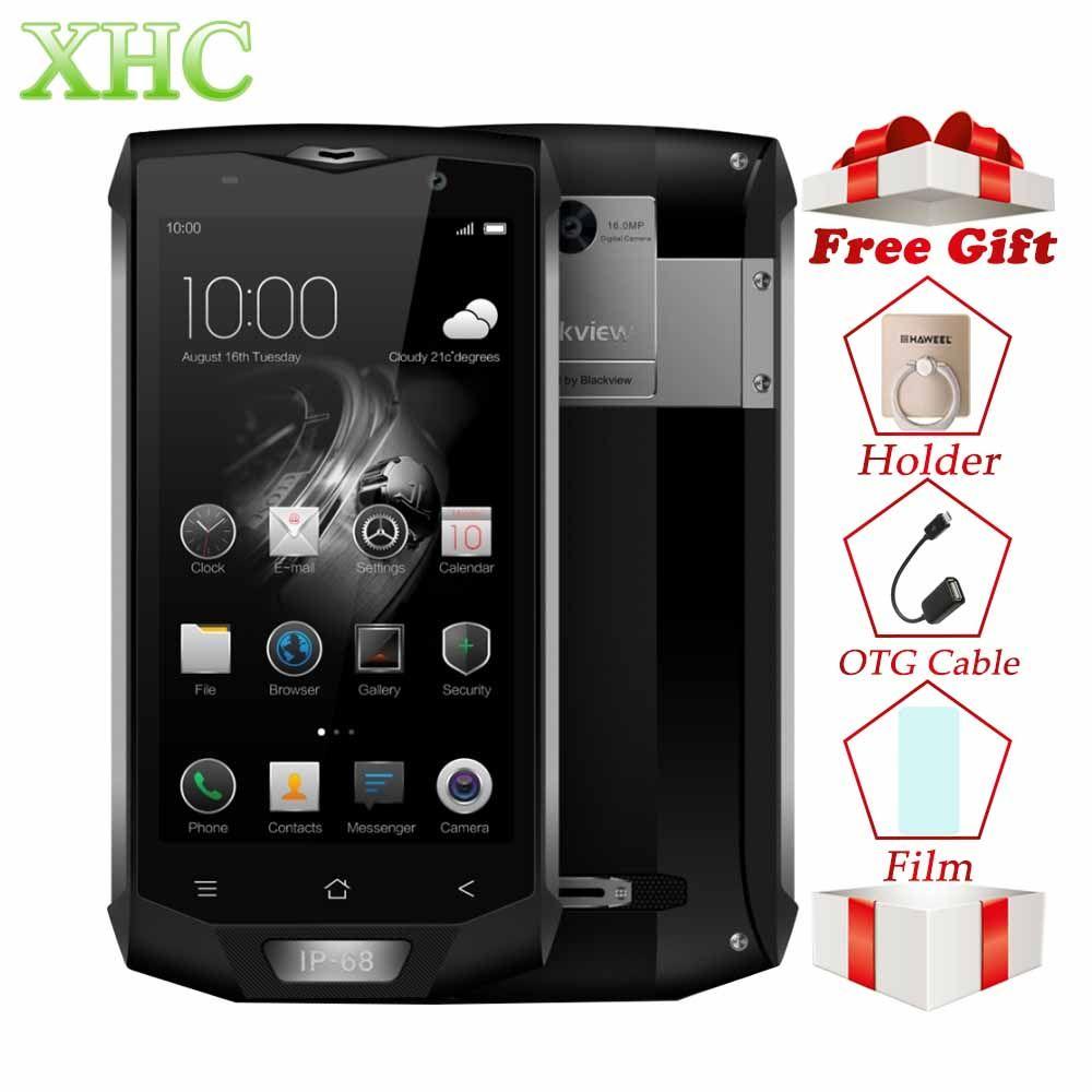 Blackview BV8000 Pro 6GB 64GB 5.0'' Android 7.0 Smartphones MTK6757 Octa Core Fingerprint 8MP 16MP NFC OTG Dual SIM Mobile Phone