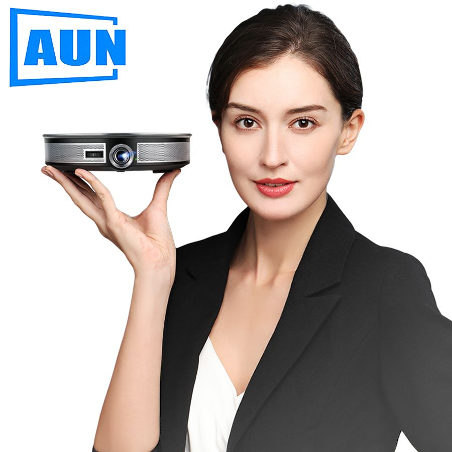 AUN 300 zoll Projektor, 2G + 16G, 12000 mAH Batterie, 1280x720 P, d8S Android WIFI. Tragbare 3D FÜHRTE MINI Projektor. unterstützung 1080 P 4 K