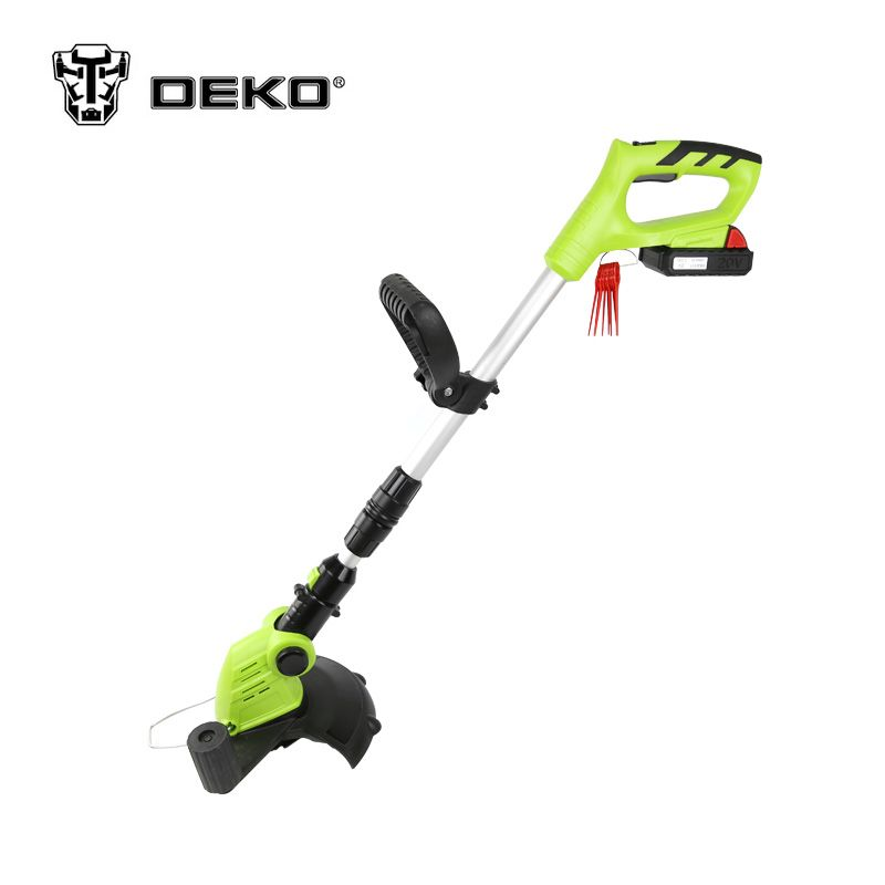DEKO DKGT06 20V Li-ion Battery 1500mAh Cordless Grass Trimmer with Battery Pack and Blade Pen