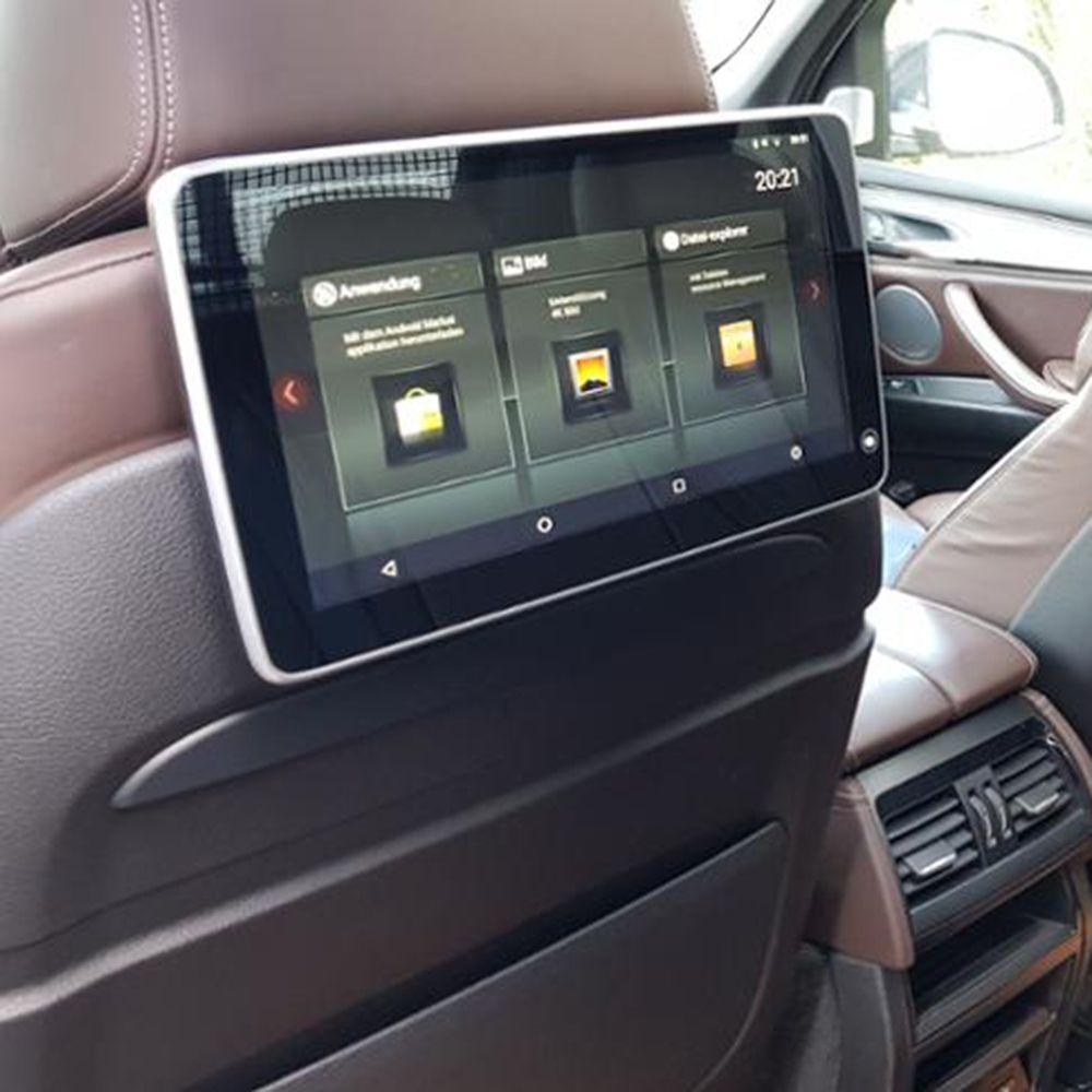 Auto Fernsehen DVD Player Kopf Unterstützung Android Kopfstütze Monitor Für BMW X5 F15 2018 Hinten Sitz Unterhaltung System TV Bildschirm