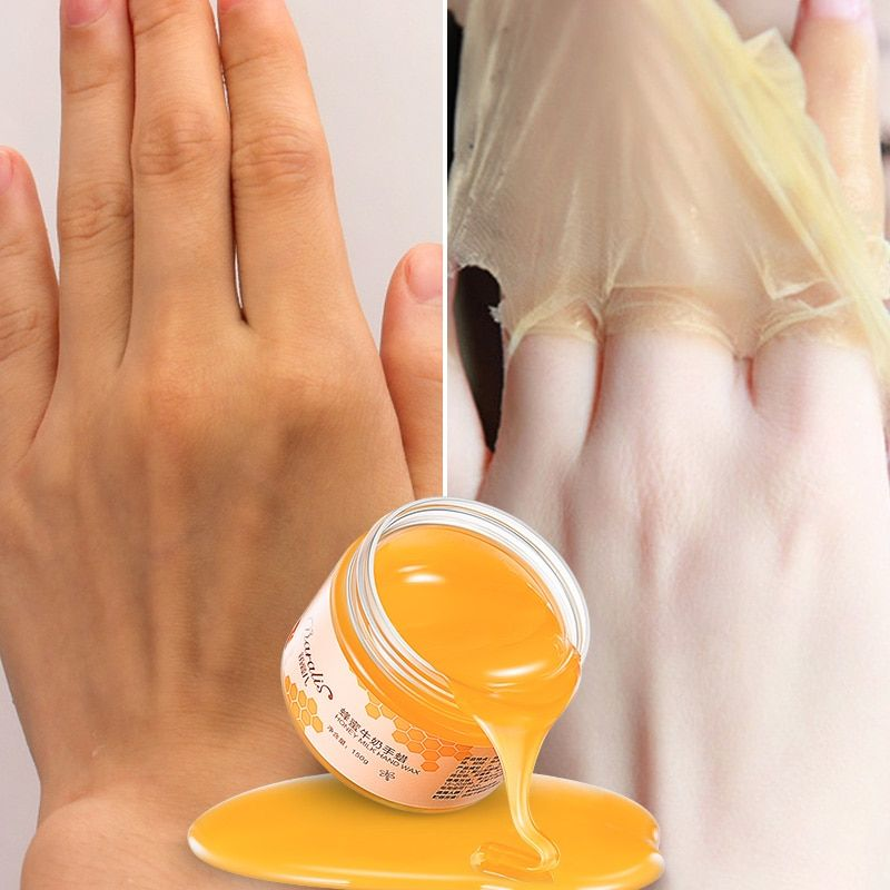 150g Milk Honey Paraffin Wax Hand Mask Peel off Mask Exfoliating Calluses Moisturizing Anti-aging Whitening for Hand Skin Care