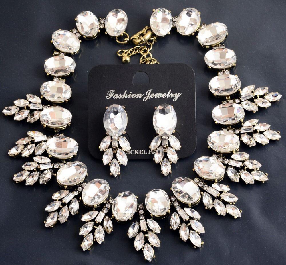 De luxe Colliers et Pendentifs Grande Marque Cristal Feuilles de Résine de Foulard de Cru bijoux Chunky Bib Déclaration Collier pour les Femmes