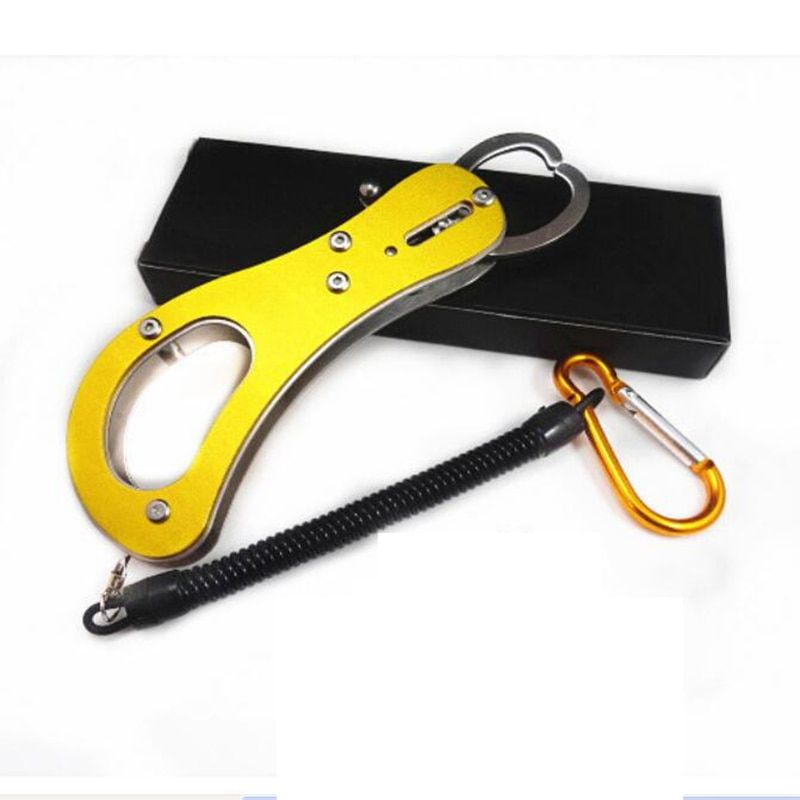 Colorful Fish Grip Lip Trigger Lock Fishing Tackle Gripper Grabber Grab Tool Stainless Steel Useful Accessory 2017 New