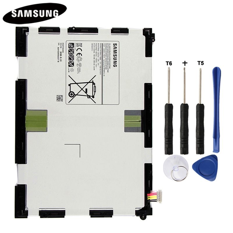 D'origine Tablet Batterie EB-BT550ABA Pour Samsung GALAXY Tab Un 9.7 T550 T555C P555C P550 Véritable Remplacement Batteries 6000 mah