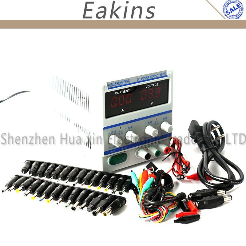 PS305 Digital Einstellbare Dc-netzteil Labor Netzteil 0-30 v 0-5 v Für Labor Notebook computer reparatur 220 v + DC JACK SET