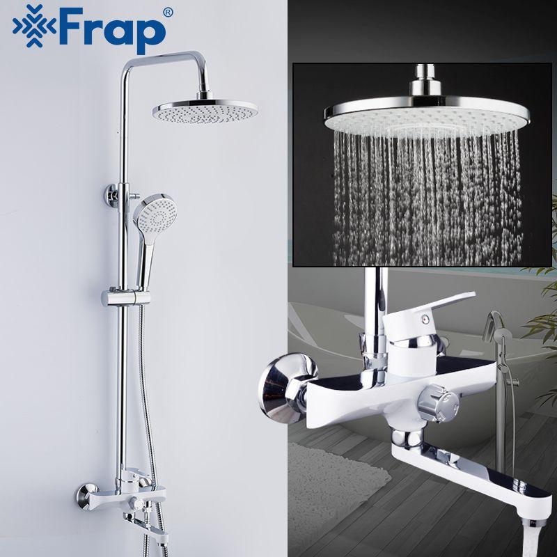 Robinet de douche FRAP robinets de douche de salle de bain mitigeur de douche robinets de pluie ensemble de tête de douche cascade robinet de baignoire