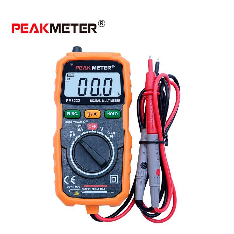Non-Contact Mini Digital Multimeter DC AC Voltage Current <font><b>Tester</b></font> HYELEC PM8232 Ammeter Multitester