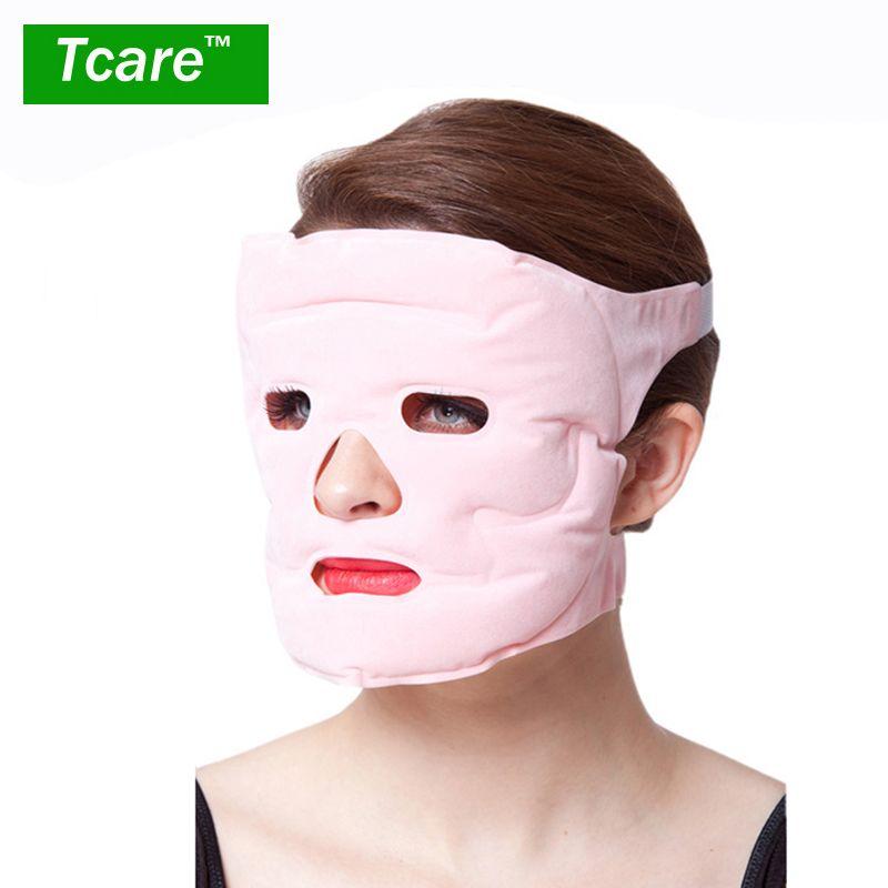 Infot 1 pièces Beauté lifting Masque Tourmaline Thérapie Magnétique De Massage Visage Masque Hydratant Blanchiment Visage Masques Soins de Santé