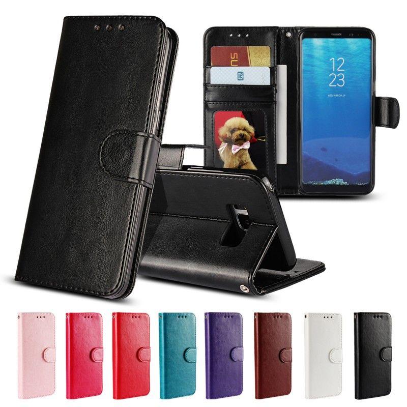 Coque pour Samsung S5 Cas pour Samsung Galaxy S5 Neo S3 S4 Mini S6 S7 Bord S8 Plus La Couverture Flip Portefeuille En Cuir De Silicium Hoesje Etui