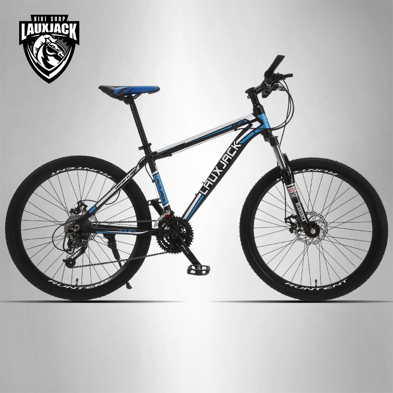 LAUXJACK Mountain bike aluminum frame 24/27 speed Shimano mechanical disc brakes 26
