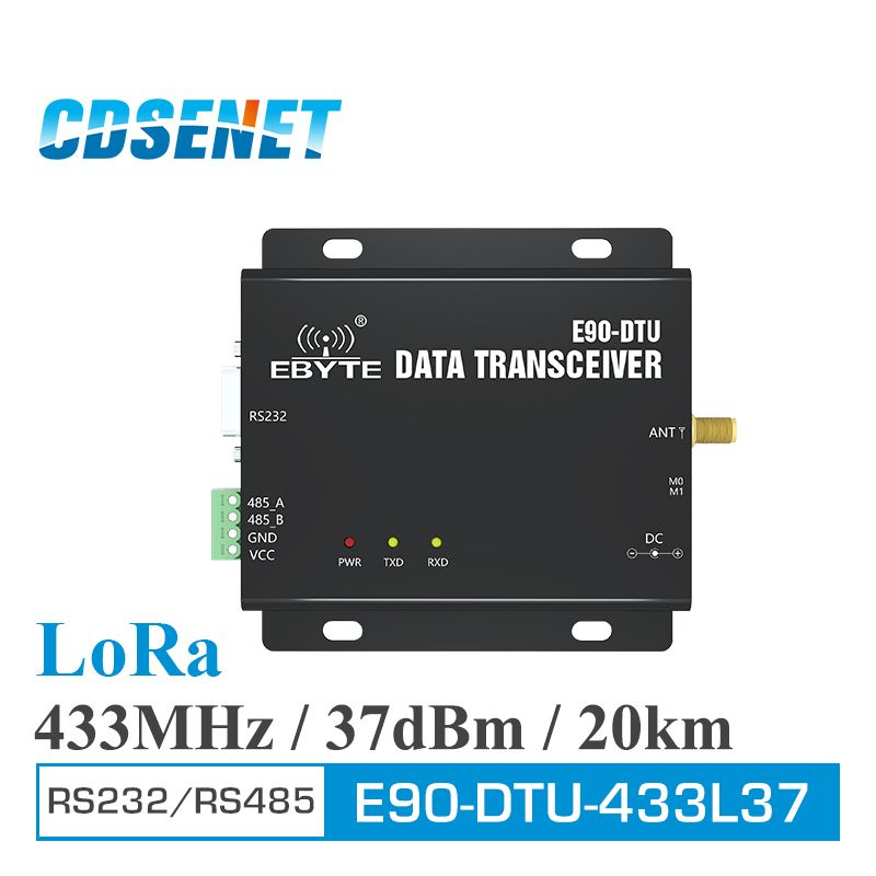 E90-DTU-433L37 Wireless Transceiver LoRa RS232 RS485 433 mhz 5 watt Fern 20 km PLC Transceiver Empfänger 433 mhz Radio modem