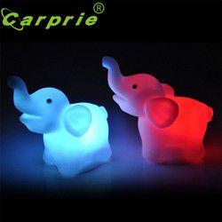 Super 2 Pcs Éléphant Couleur Changeante Nuit à Led Lampe De Mariage Party Decor Dropshipping 0425