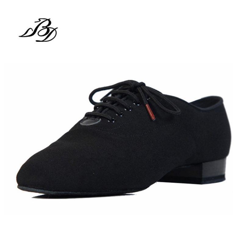 Sneakers BD Dance Shoes Men Shoes Square dance Social Ballroom Latin shoes 309 Black 317 Modern shoe Hot Oxford Cloth Heel 25mm