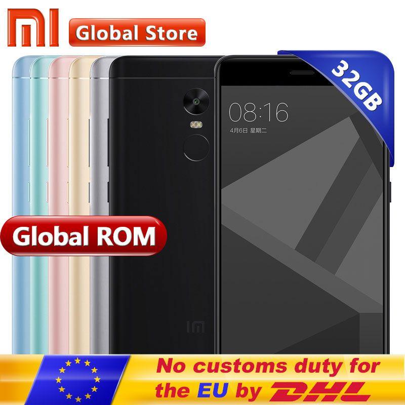 Original Xiaomi Redmi Note 4X 4 X 3GB 32GB Mobile Phone Redmi Note4X Snapdragon S625 Octa Core Android Phone 5.5