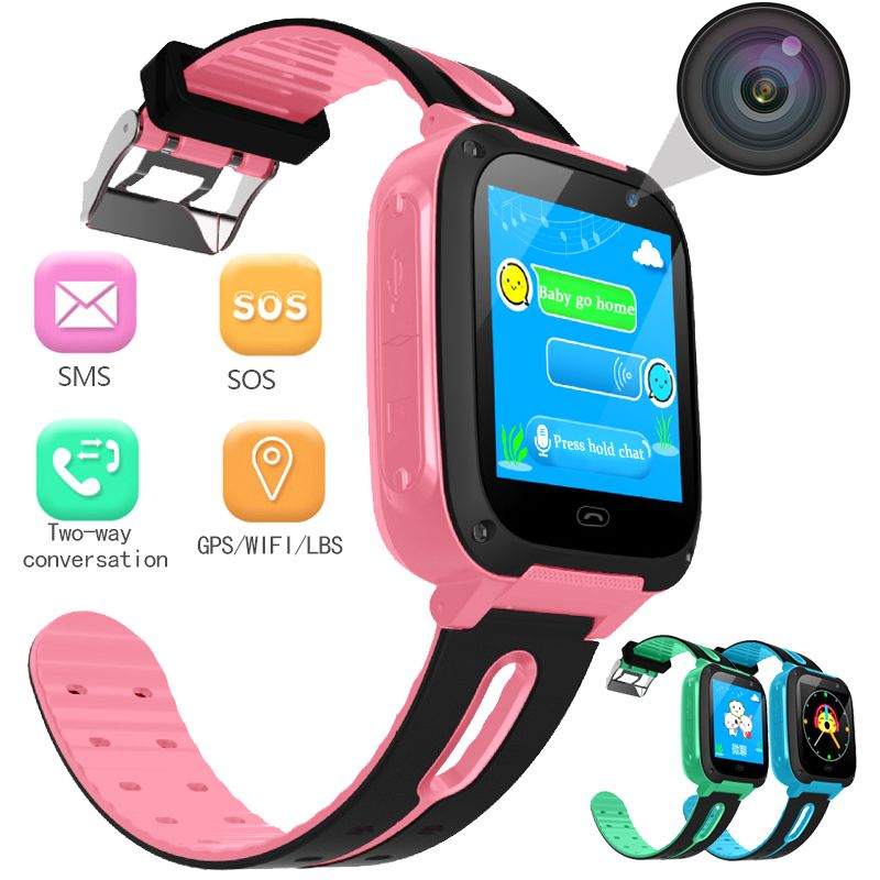 2018 New Anti Lost Child LBS Tracker SOS Smart Monitoring Positioning OLED Kids Smart Watch Phone Compatible with IOS & Android