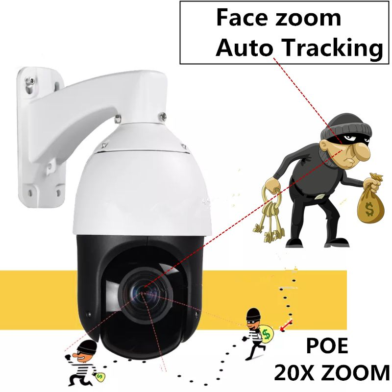 H.265 2MP PTZ IP Kamera Sternenlicht 20X optische zoom IR 100 m Motion Detection Onvif P2P 1080 P POE Humanoiden auto Tracking Kamera