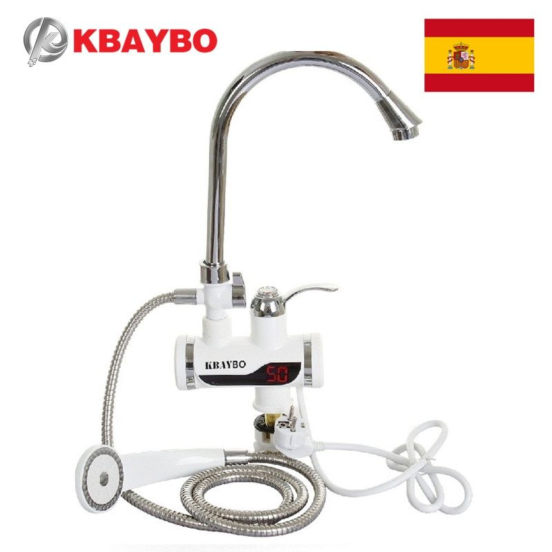 <font><b>3000W</b></font> Electric Instant Water Heater Tap Shower Hot Faucet Kitchen Water Heater