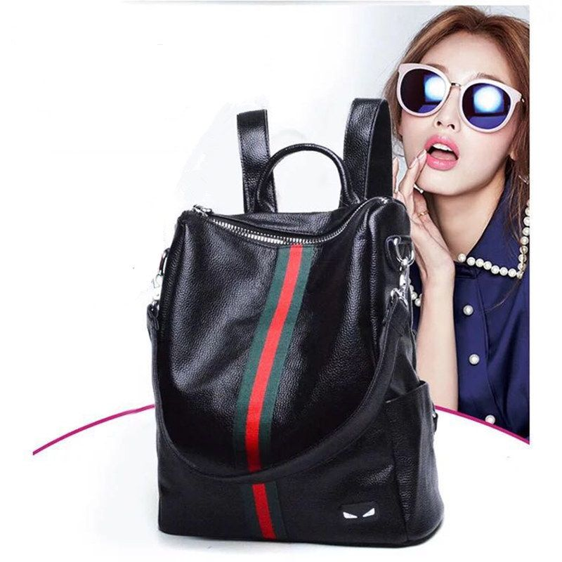 New Fashion Design Women Backpack High Quality Youth Leather Backpacks for Teenage Girls Female School Shoulder Bag Bagpack
