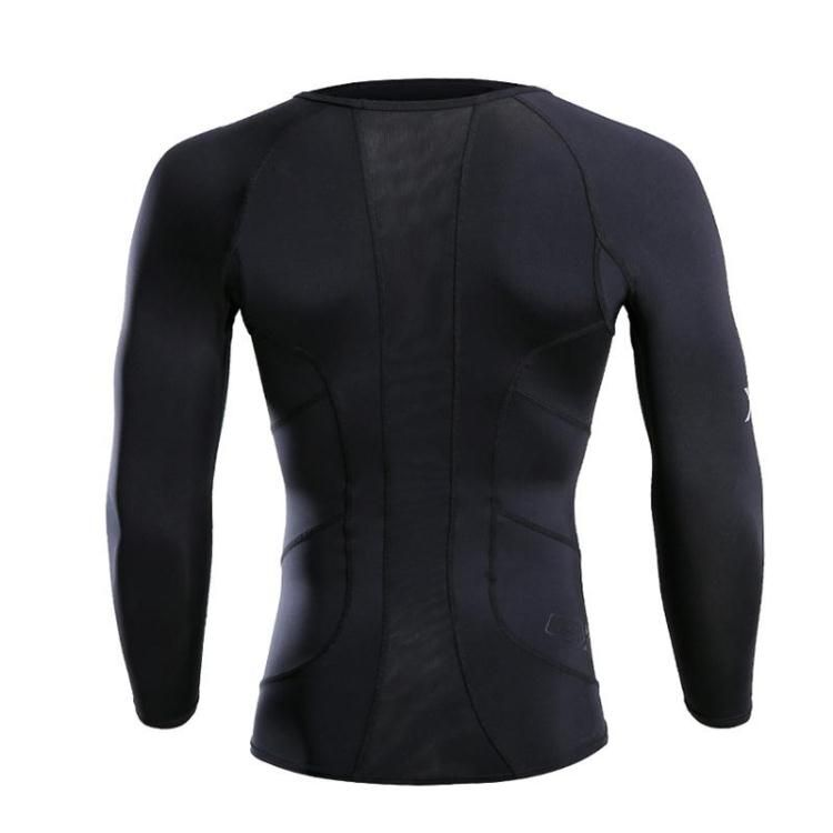 Fall Winter EXP Male compression Tight Gym Long sleeve T-shirt marathon runners training Workout Stretch Trousers Wicking