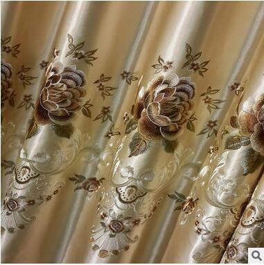2017 Nouvelle Europe Brodé Fenêtre Rideau Pour salon Chambre À Coucher Blackout Traitement de Fenêtre De Rideau Rideaux Décor À La Maison