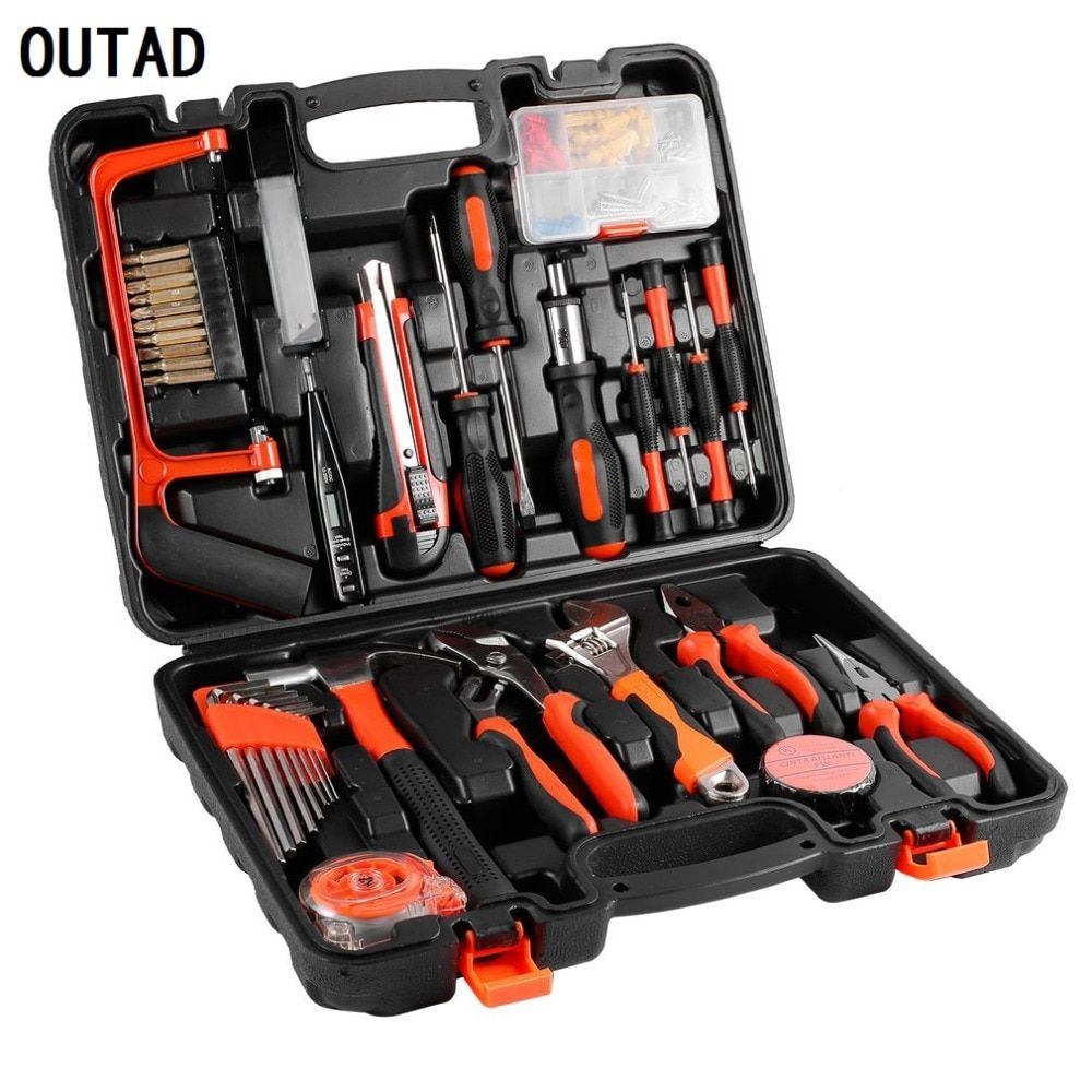 100 Pcs Robust lightweight Universal Multi-Functional Precision Maintenance Repair Hardware Instrumental Sets Home Tool Kits